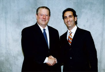 Levine Financial President Elliott Levine with Al Gore, former Vice-President of the United States